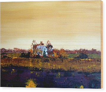 Wood Print featuring the painting Homestead by William Renzulli
