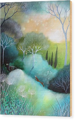 Homeward Wood Print by Amanda Clark
