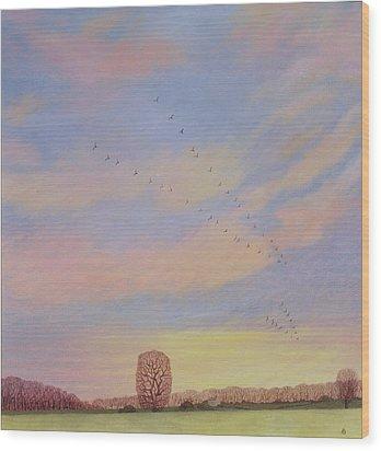 Homeward Wood Print by Ann Brian