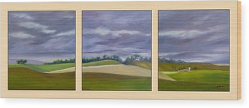 Wood Print featuring the painting Homeward Bound - Triptych by Jo Appleby
