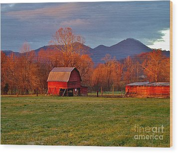 Hominy Valley Mornin' Wood Print by Hominy Valley Photography