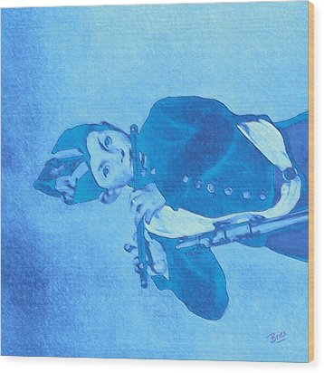 Wood Print featuring the painting Hommage To Manet - The Wrongheaded Fifer By Briex by Nop Briex