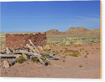 Homolovi Ruins State Park Arizona Wood Print by Christine Till