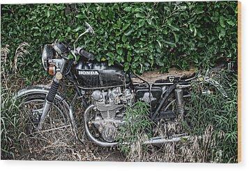 Honda 450 Motorcycle Wood Print
