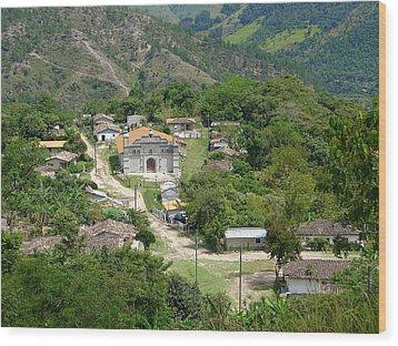Honduras Mountain Village Wood Print
