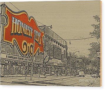 Honest Eds On Markham Street Wood Print by Nina Silver