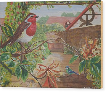 Honey Birds Wood Print by David Paterson