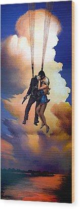 Honeymoon Over Zagreb Wood Print by Geoff Greene