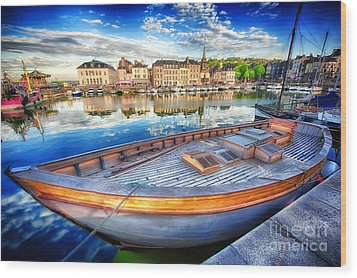 Honfleur At Rest Wood Print by Jack Torcello