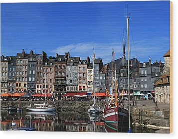 Honfleur France Wood Print