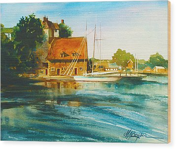 Honfleur Harbor Wood Print