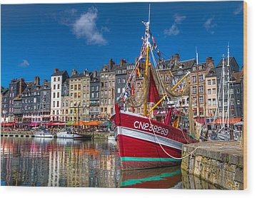 Honfleur Normandy Wood Print by Tim Stanley