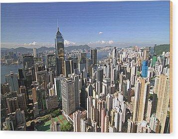 Hong Kong Causeway Bay Wood Print by Lars Ruecker