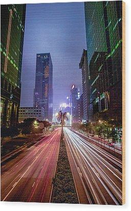 Wood Print featuring the photograph Hong Kong Highway by Robert  Aycock