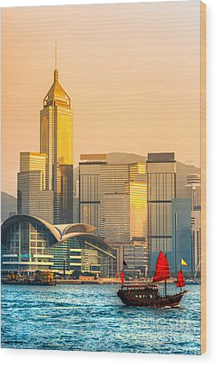 Hong Kong. Wood Print