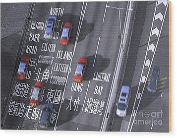 Hong Kong Taxi Wood Print by Lars Ruecker