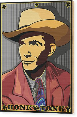 Honky Tonk Hank Williams Wood Print by Larry Butterworth