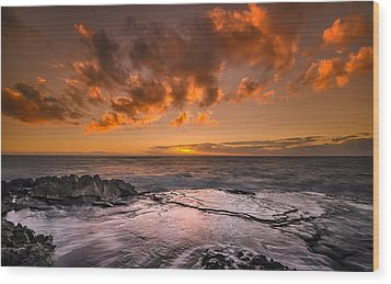 Honolulu Sunset At Koolina Resort Wood Print