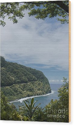 Honomanu - Highway To Heaven - Road To Hana Maui Hawaii Wood Print by Sharon Mau
