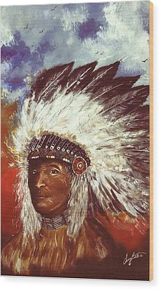 Honorable Chief Wood Print