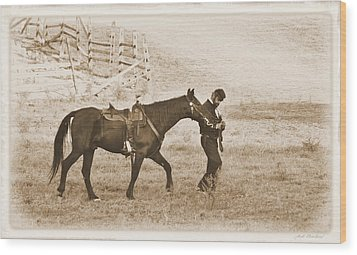 Wood Print featuring the photograph Honorig A Fallen Soldier by Judi Quelland