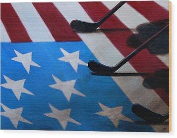Honoring America Wood Print by Marlon Huynh
