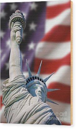 Honour Liberty And Freedom Wood Print