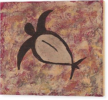 Honu Wood Print by Darice Machel McGuire