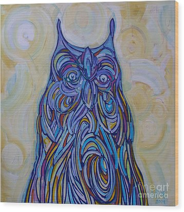 Hoo Are You? Wood Print by Michael Ciccotello