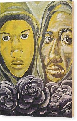 Hood Heaven Wood Print by Sean Ivy aka Afro Art Ivy