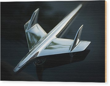 Wood Print featuring the photograph Hood Ornament  by Bud Simpson