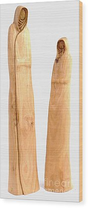 Hooded Figures  Wood Print by Eric Kempson