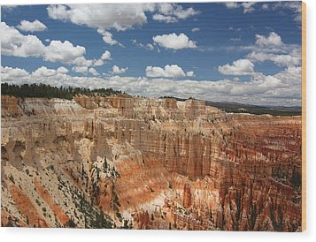 Hoodoos At Bryce Canyon Wood Print