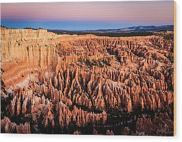 Wood Print featuring the photograph Hoodoos At Sunrise by Peta Thames