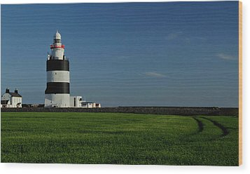 Hook Head Lighthouse Wood Print by Peter Skelton