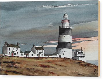 Hook Lighthouse Wexford Wood Print
