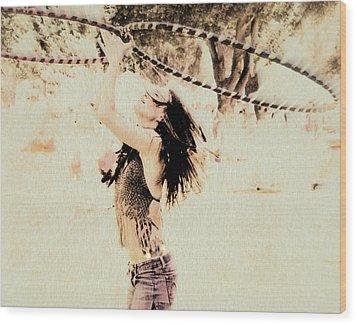 Hoop Dancer  Wood Print