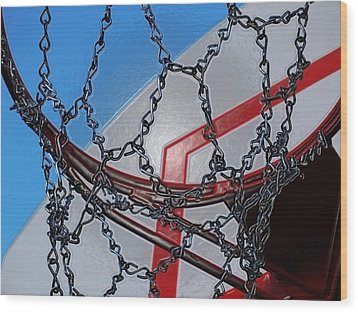 Hoop Dreams Wood Print by Andy McAfee