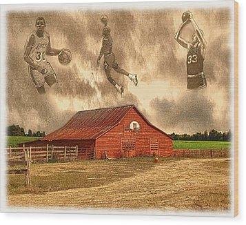 Hoop Dreams Wood Print by Charles Ott