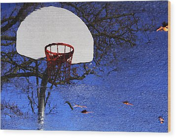 Hoop Dreams Wood Print by Jason Politte