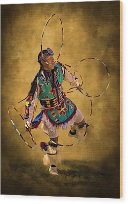 Hooping His Heart Out Wood Print