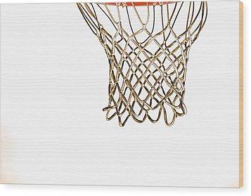 Hoops Anyone Wood Print by Karol Livote
