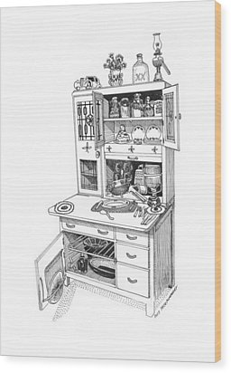Hoosier Kitchen Wood Print by Jack Pumphrey