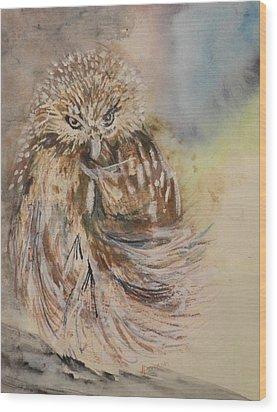 Hoot Hoot Wood Print