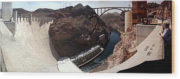Hoover Dam 1 Wood Print by Russell Smidt