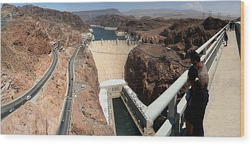 Hoover Dam II Wood Print by Russell Smidt