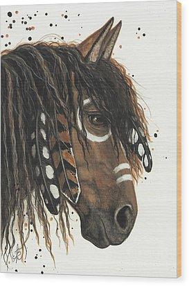Hopa Majestic Mustang Series 47 Wood Print by AmyLyn Bihrle