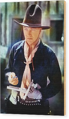 Hopalong Cassidy Wood Print by David Blank