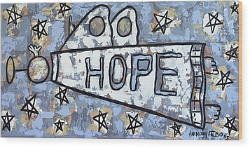 Hope Wood Print by Anthony Falbo