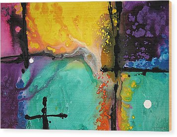 Hope - Colorful Abstract Art By Sharon Cummings Wood Print by Sharon Cummings